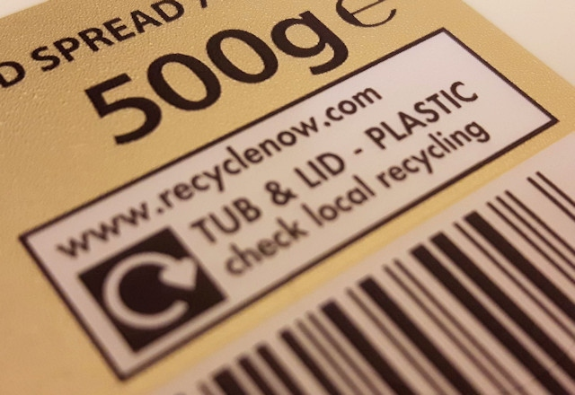 Most plastics say 'check your local recycling'