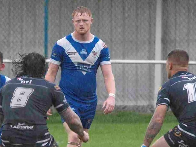 Luke Fowden has returned to Rochdale Hornets, pictured here playing for Rochdale Mayfield