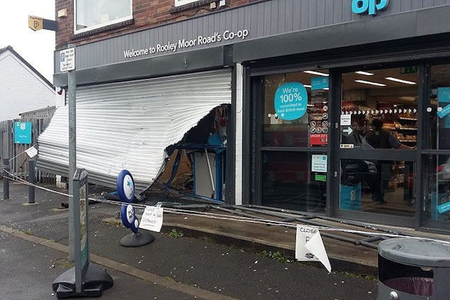 The Co-op on Rooley Moor Road was broken into during the early hours of Wednesday morning