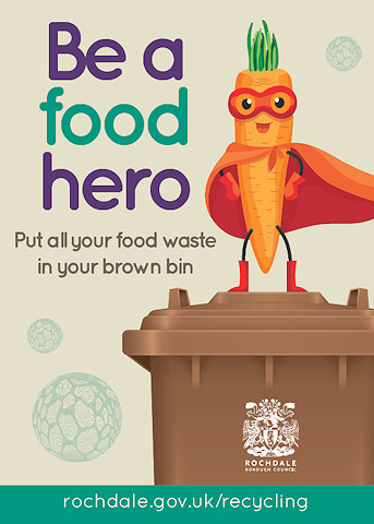 Captain Carrot - a character to encourage residents to become a 'food hero' and recycle their food waste correctly