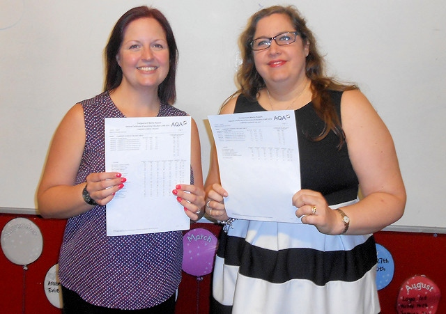 Mrs Street & Mrs Grange celebrate the science results