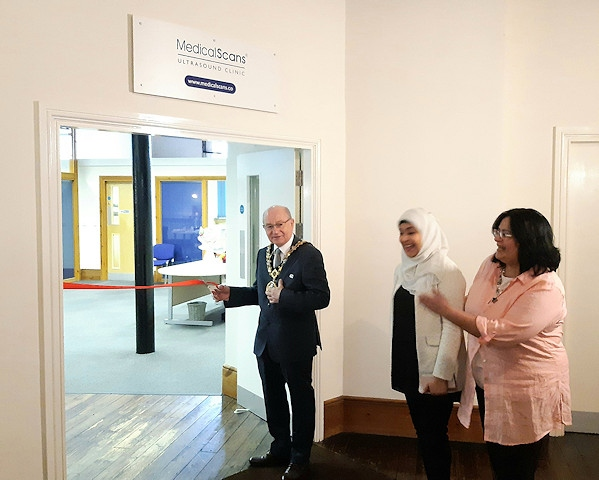 The opening of Medical Scans Limited at Blue Pit Mill