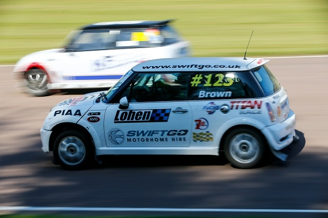 Steve Brown in action at the Toyo Tyres British Rallycross Championship BMW MINI series