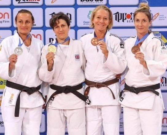Sophie Cox (second from left) with her Gold at European Judo Masters