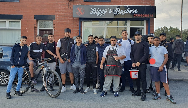 The fun day at Biggy's Barbers raised over £1,000