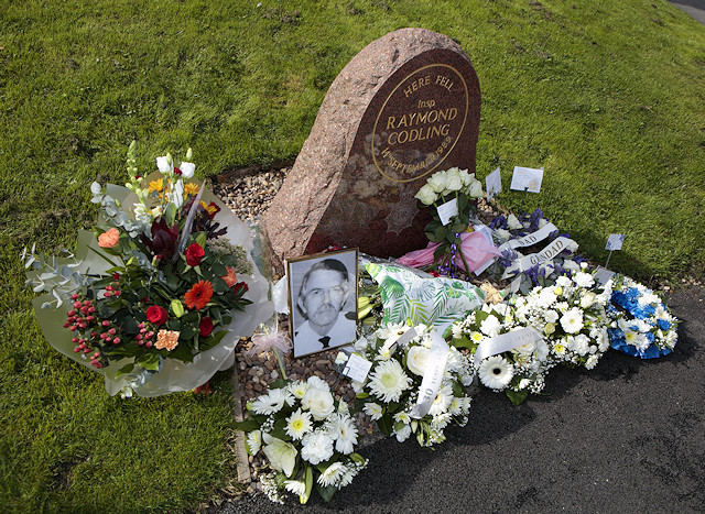 The memorial for Inspector Ray Codling, who was killed on duty at Birch Services