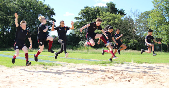Siddal Moor students jumping