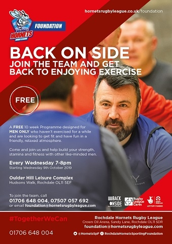 Back Onside - the free men's fitness programme run by Rochdale Hornets Sporting Foundation