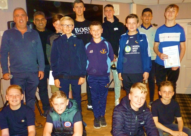 The under 15's with team managers, Matt Allen and Mo Waheed