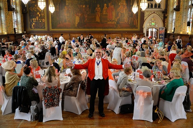 Kerry Hargreaves' photo of toastmaster Alan Calow at an event in Rochdale Town Hall