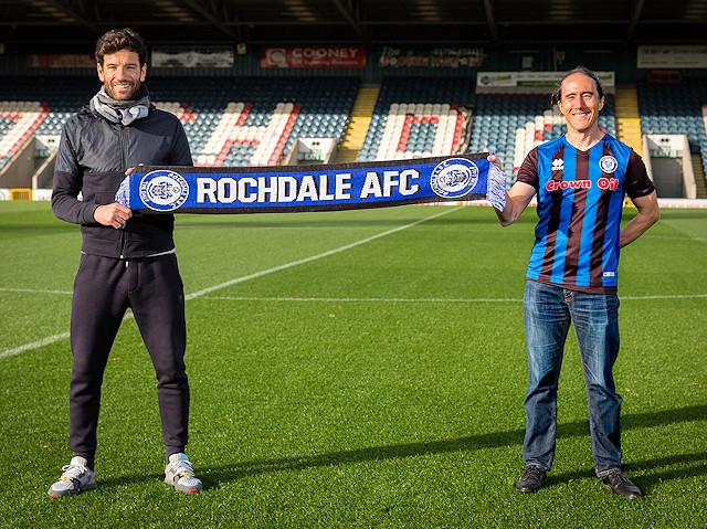 Brian Barry-Murphy, Rochdale AFC Manager (left) with Richard Tang, Zen Founder and Chairman