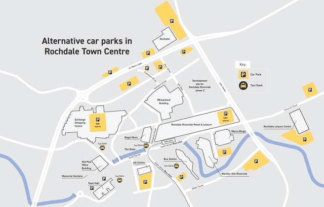 Hundreds of parking spaces will still be available across Rochdale town centre