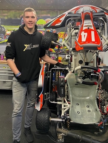 Matty with the X-kart