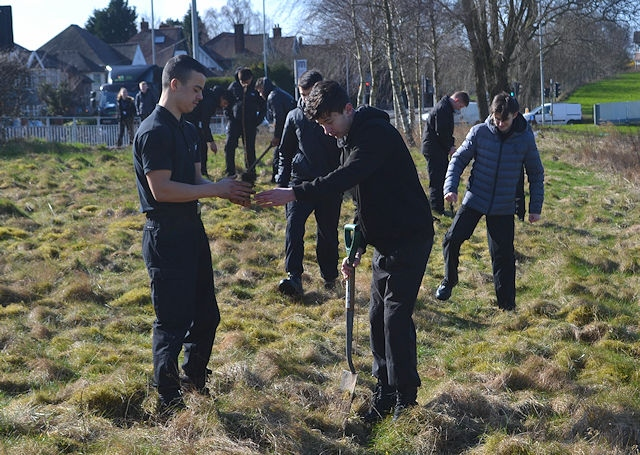 Volunteer students planted 420 trees at Hopwood Hall College