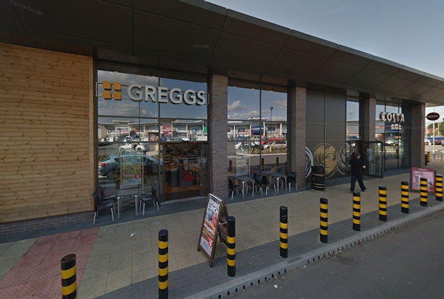 Greggs at Kingsway Retail Park, next to Costa Coffee