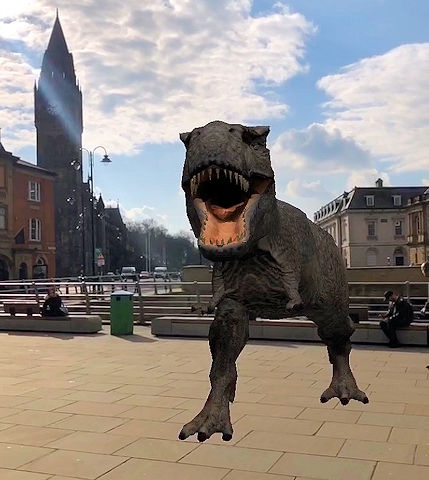 DinoDale: bring an augmented reality T-Rex to life right before your very eyes