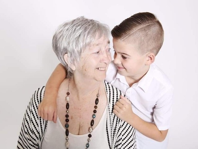 Linda Philips with grandson Archie