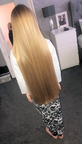 Lucie Smith is cutting 16 inches from her 26-inch hair to raise money for the Rochdale Children's Moorland Home