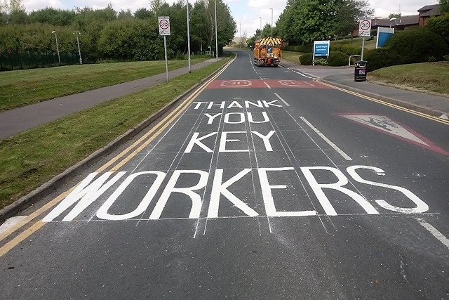 The thank you message outside Birch Hill Hospital