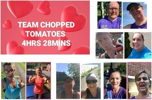Each team was named after a lockdown staple - the winning group was Team Chopped Tomatoes