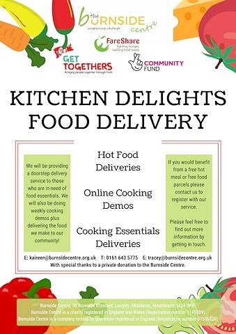 The 'Kitchen Delights Food Delivery' scheme will run each week until the end of August
