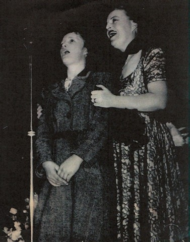 Jean Chadwick performing with Gracie Fields