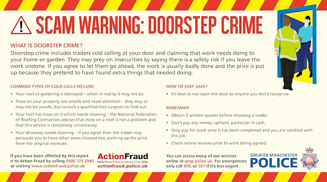 Rochdale News News Headlines Police Warning Doorstep Crime Is On The Rise Rochdale Online