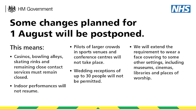Changes planned for 1 August now postponed