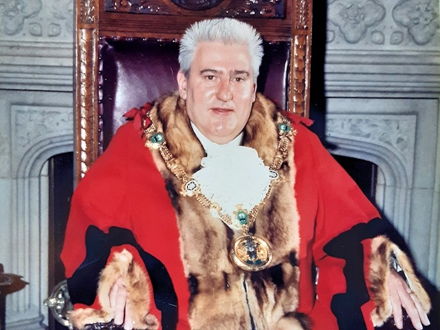 Allan Whitehead pictured in 1987 during his mayoral term