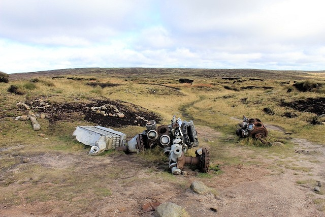 This wreckage of a four engine B-29 plane is what the walkers were looking for when they got lost