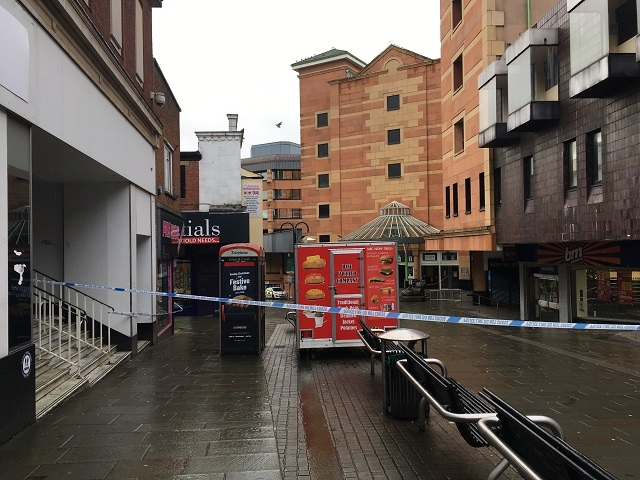 Part of Yorkshire Street is closed off