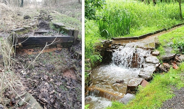 Rhodes Ravine in Kirkholt, before and after the transformation