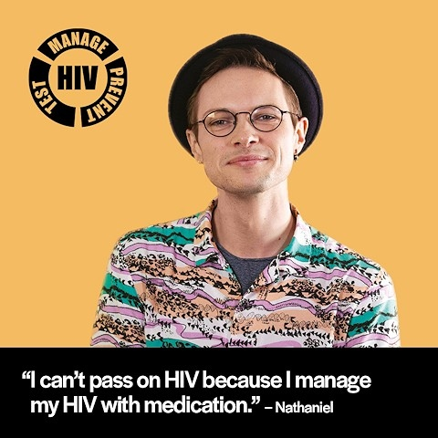 The online campaign encourages people to take a HIV test at home during the pandemic
