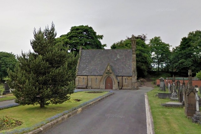 The chapel pictured before the fire. Picture - Google, DigitalGlobe