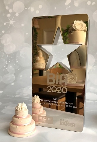 Brown's won the title of Cake Celebration Business of the Year at the National Baking Industry Awards 2021