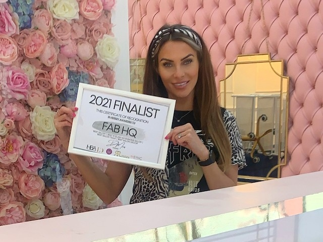 Chanelle Wolstenholme has been nominated for Entrepreneur of the Year at this year's UK Hair and Beauty Awards