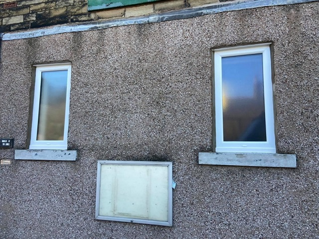 The two windows replaced by Daniel