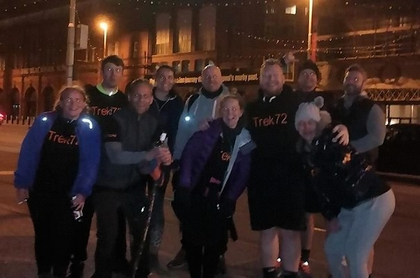 The Trek72 team in Blackpool
