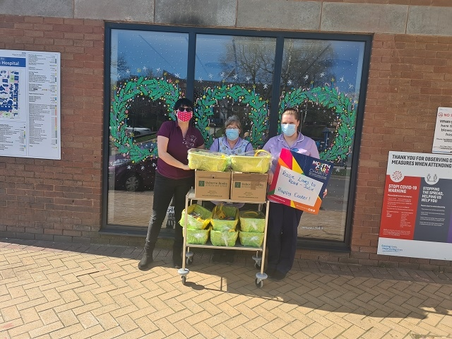 The donation of books and Easter baskets from Julie Rothwell, of Middleton business, Rosie Loves to Read