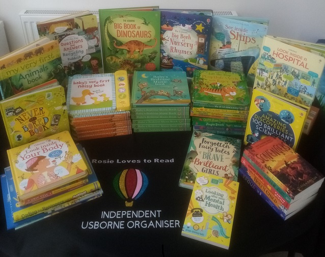 Some of the books donated by Julie, of Rosie Loves to Read