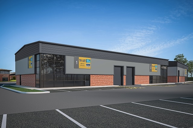The new 26,500 sq ft development will add 11 industrial units and three hybrid business units