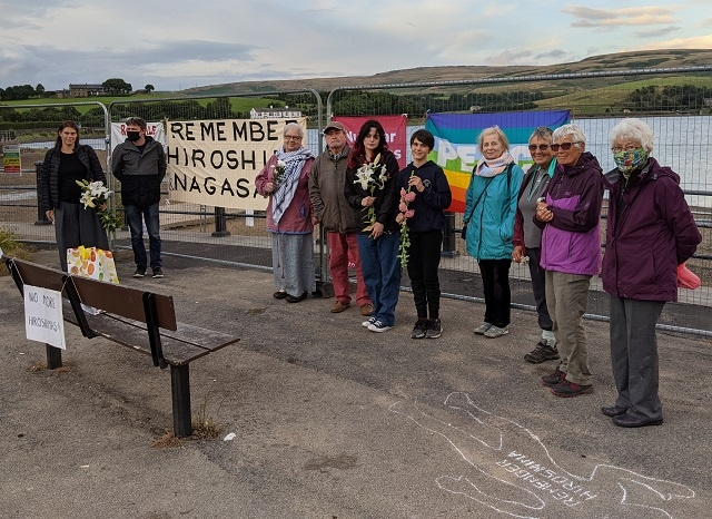 The Rochdale and Littleborough Peace Group remembered the victims of the atomic bombs dropped in Japan during World War Two