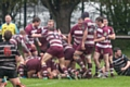 Rochdale RUFC 19-16 Broughton Park<br />Rochdale RUFC captain Rob Neave is buried under a pack of Rochdale players having powered over the line for the winning try