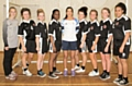Siddal Moor's Under 15 girls team with GB Olympian, Holly Lam-Moores (centre)
