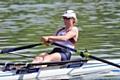 Ruth Walczak rowing for GB in the World Cup Regatta in Lucerne
