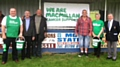 Dave Taylor and his partner along with some of the Mayfield greats of the past collect for Macmillan cancer support