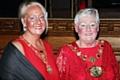 Mayoress Beverley Place and Mayor Carol Wardle
