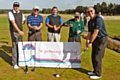 David Harris (right) with Business Society golfers at the charityevent