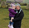 Cath and her daughter Isla in happier times