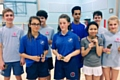 Badminton tournament competitors